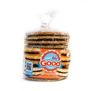 De nummer 1 stroopwafel in de wereld! Visite? Een stroopwafel is altijd goed! Elk zakje bevat 12 heerlijke stroopwafels. Een perfecte aanvulling op uw assortiment! Bent u een groothandel, wholesaler of reseller en wilt u uw klanten laten glimlachen? Neem dan onze Amsterdam! Good Cookies producten op in uw assortiment en wij garanderen u een glimlach!